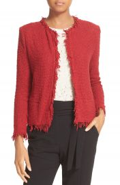IRO Fringe Trim Open Jacket at Nordstrom