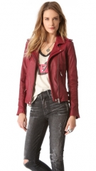 IRO Han Leather Jacket at Shopbop