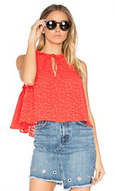 IRO Ragnhild Top in Red Orange from Revolve com at Revolve