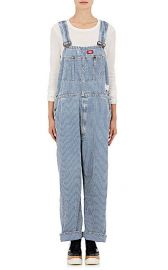 Icons striped denim overalls at Barneys