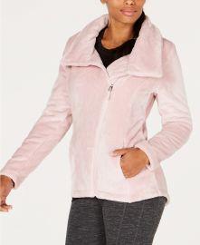 Ideology Asymmetrical-Zip Fleece Jacket at Macys