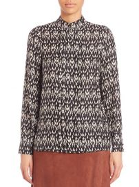 Ikat Pleated Front Blouse at Saks Fifth Avenue