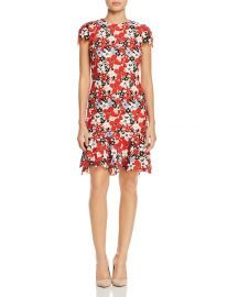 Imani Cap-Sleeve Floral Embroidered Dress at Bloomingdales