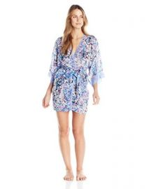 In Bloom by Jonquil Womenand39s Petals and Chiffon Robe at Amazon