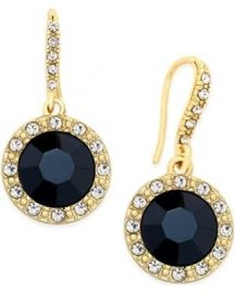Inc International Concepts Round Stone Drop Earrings at Macys