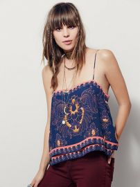 Indigo Combo Scarf Print Tank in Indigo at Free People