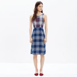 Indigo Plaid Dress at Madewell