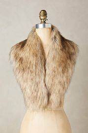 Ingara Faux-Fur Stole in Brown at Anthropologie