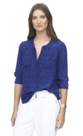 Ink Dot Double Pocket Top at Rebecca Taylor