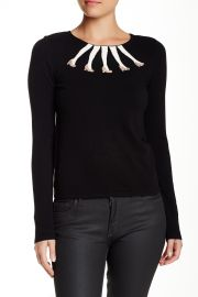 Intarsia Legs Boxy Crew Neck Sweater at Nordstrom Rack