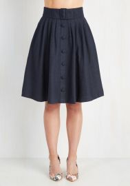 Intern of Fate Skirt in Navy at ModCloth