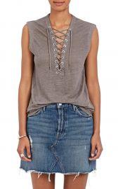 Iro Tissa Lace-Up Linen Top at Barneys