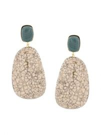 Isabel Marant   201 toile Stone Drop Earrings at Farfetch