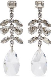 Isabel Marant - Silver-tone crystal earrings at Net A Porter