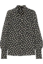 Isabel Marant   Sloan printed silk-chiffon blouse at Net A Porter