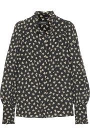 Isabel Marant   Sloan printed silk-chiffon blouse at Net A Porter