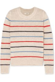 Isabel Marant   toile - Gian striped alpaca and wool-blend sweater at Net A Porter