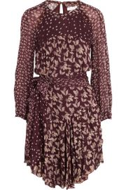Isabel Marant   toile   Prewitt leaf-print georgette dress at Net A Porter