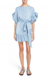Isabel Marant   toile Lelicia Denim Ruffle Dress at Nordstrom