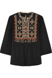 Isabel Marant  Roma embroidered silk blouse at Net A Porter