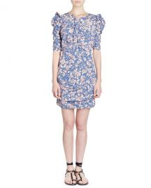 Isabel Marant Brizia Floral-Print Fitted Dress   Neiman Marcus at Neiman Marcus