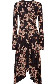 Isabel Marant Diana asymmetric floral-print stretch-crepe dress at Net A Porter
