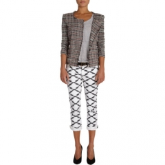 Isabel Marant Etoile Gaylord Plaid Knit Jacket at Barneys