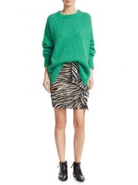 Isabel Marant Etoile Gerene Zebra Print Ruched Mini Skirt at Saks Fifth Avenue