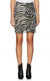 Isabel Marant Etoile Jerine Zebra-Print Chiffon Miniskirt at Barneys