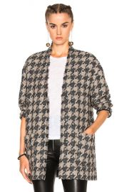 Isabel Marant Jameson Tweed Jacket in Grey   FWRD at Forward