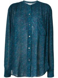 Isabel Marant Jaws Printed Chiffon Shirt at Farfetch