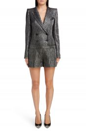 Isabel Marant Metallic Double Breasted Romper at Nordstrom