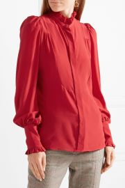 Isabel Marant Sloan ruffled silk crepe de chine blouse at Net A Porter