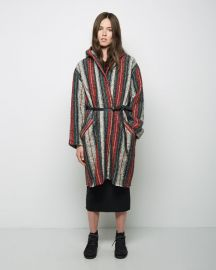 Isabel Marant Striped Blanket Coat at La Garconne