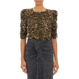 Isabel Marant andEacutetoile Leopard-Print Voile Caja Top at Barneys