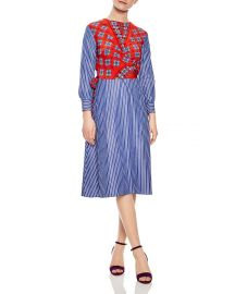Isadora Mixed-Print Midi Dress at Bloomingdales