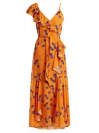 Isadora Orchid-print ruffle-trimmed crepe dress at Matches