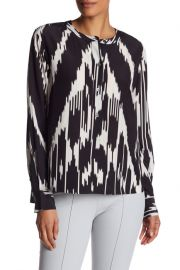 Isalva Silk Interlace Top by Theory at Nordstrom Rack