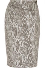 Isolation metallic snake-jacquard skirt at The Outnet