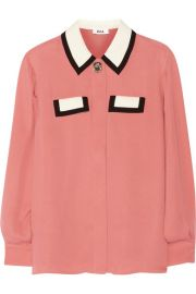 Issa   Ruth silk-georgette blouse at Net A Porter