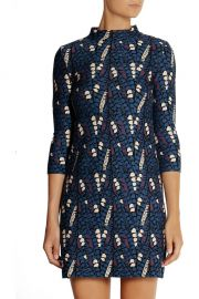 Issa Patterned Stretch Knit Mini Dress at The Outnet