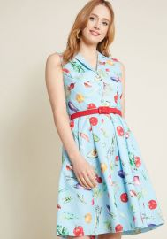 It\'s an Inspired Taste Cotton Shirt Dress in Veggies at ModCloth