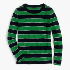 Italian Cashmere Striped Long-Sleeve T-Shirt at J. Crew
