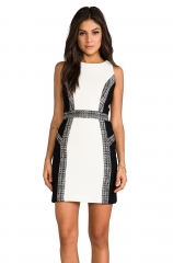 Italian Wool Crepe Inset Dress by Milly at Revolve