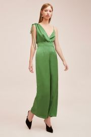 Ive Got You Jumpsuit in Emerald Green by Keepsake at Keepsake