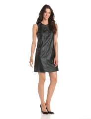 Ivy and Blue leather shift dress at Amazon