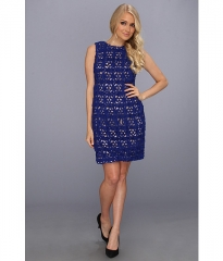 Ivy andamp Blu Maggy Boutique Ribbon Lace Shift Dress Wave at Zappos
