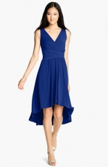 Ivy andamp Blu Pleated Front V-Neck Dress at Nordstrom