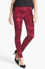 J Brand 815 Mid Rise Print Velveteen Super Skinny Jeans at Nordstrom