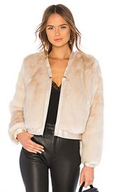 J Brand Ashbey Faux Fur Jacket in Champagne from Revolve com at Revolve